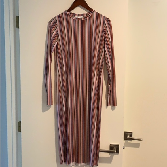 Zara Dresses & Skirts - ZARA STRIPED MIDI DRESS size S
